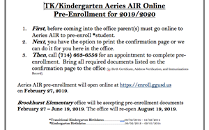 Pre-Enrollment for TK/Kindergarten - article thumnail image
