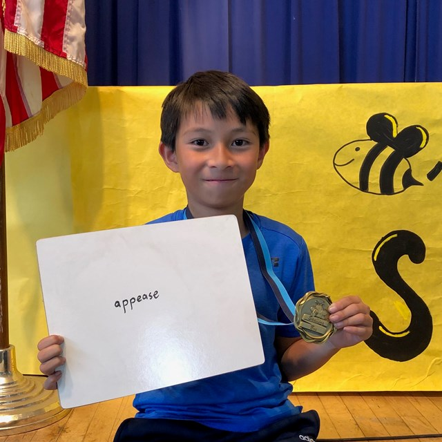 Our representative for the district spelling bee.